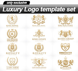 36个豪华的矢量标志:Luxury Logo template set - 36 EPS